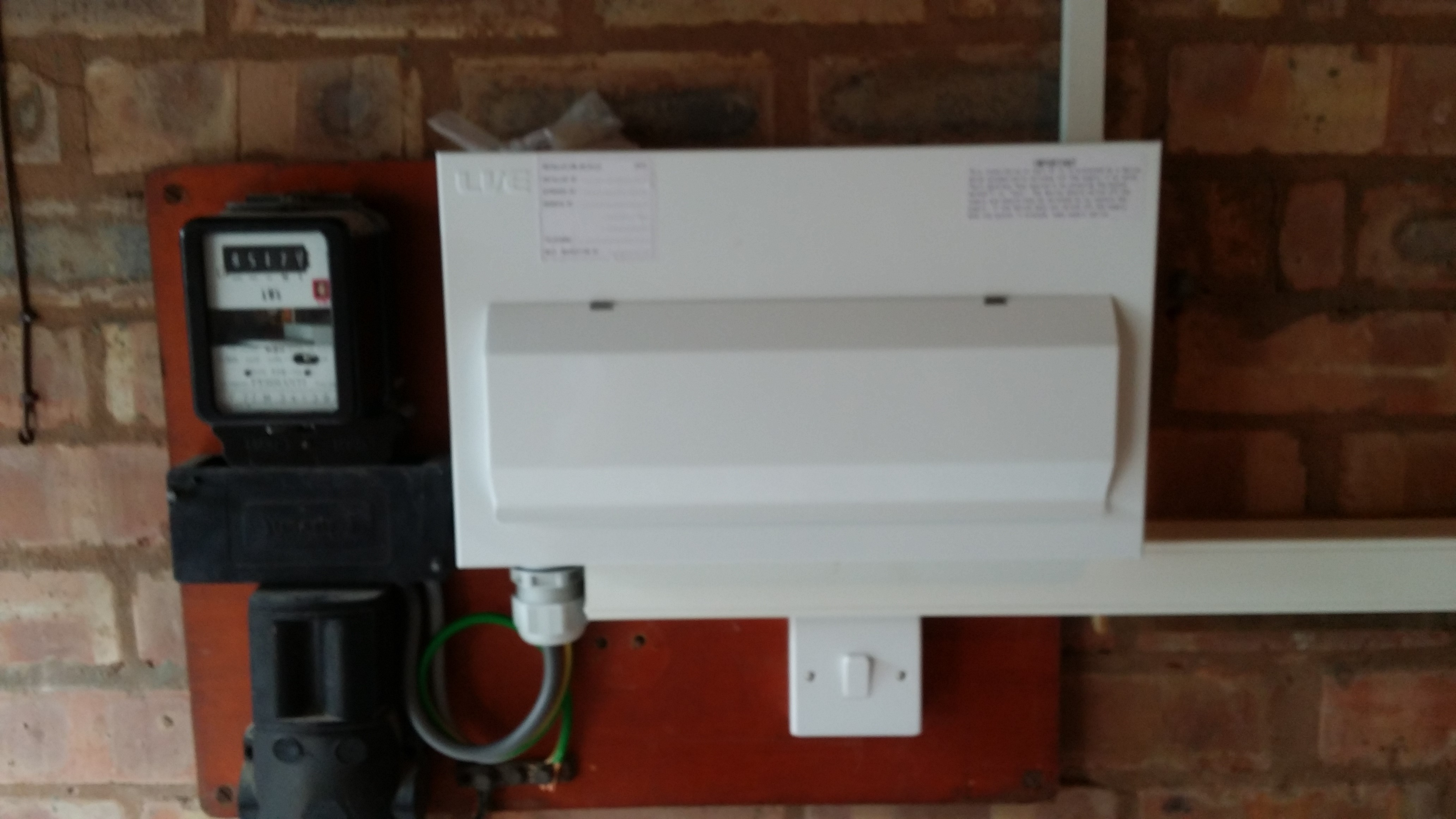 Sample of Rainhill Home Improvement and Energy Services work with meters and circuit boards