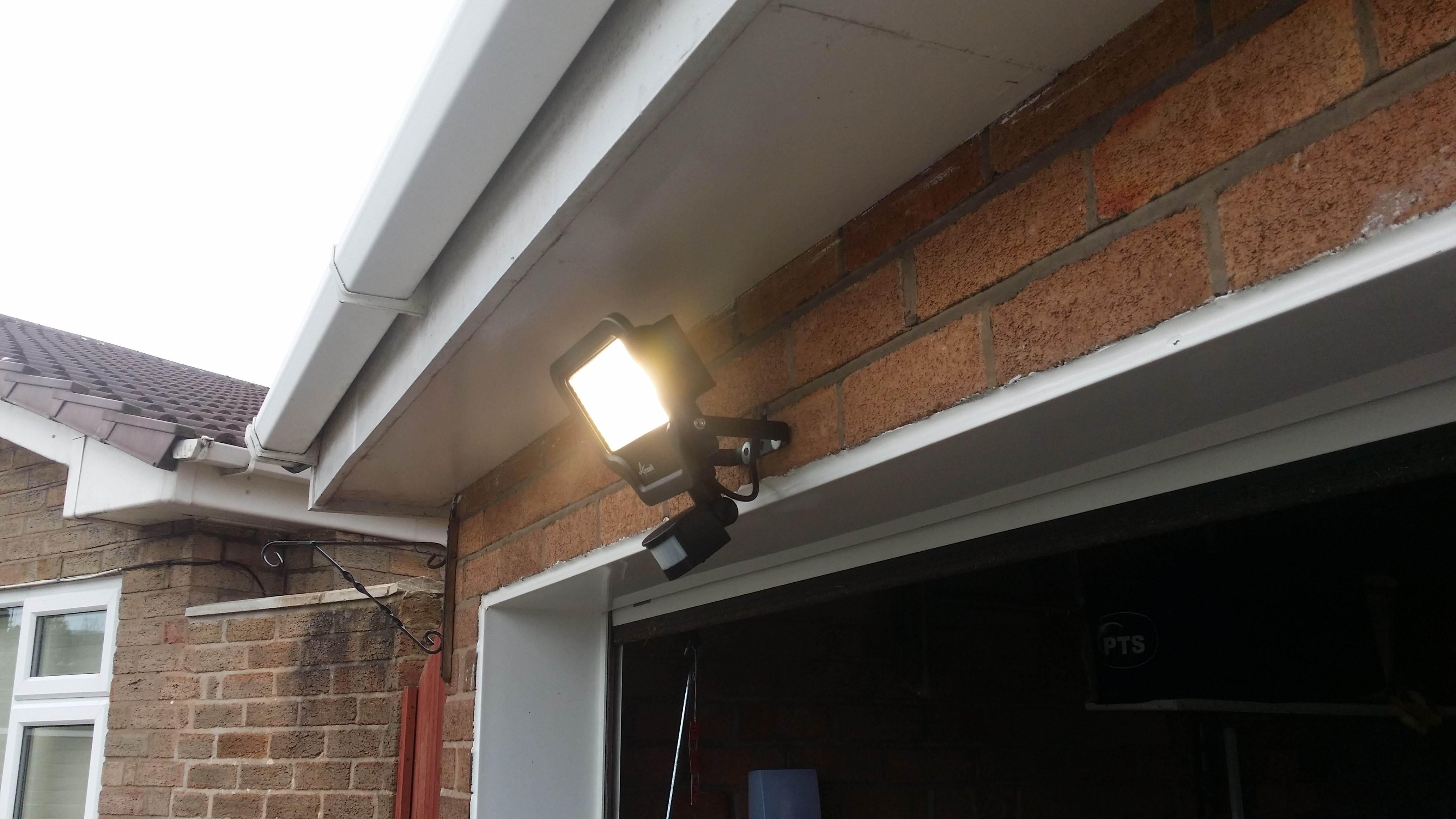 Work completed by RHIAES on a outdoor light