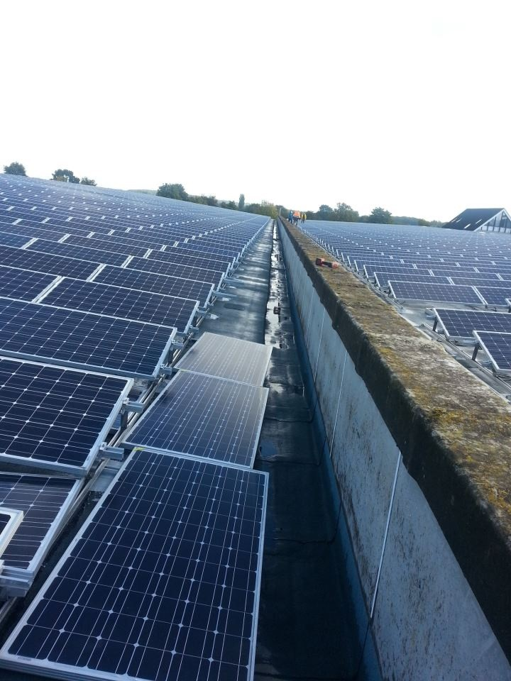 Sample of solar panels installed by RHIAES